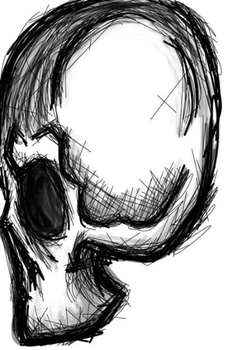 scribble skull by LillithLaviathan