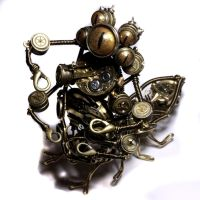 Steampunk Sculpture Progress 3 by CatherinetteRings
