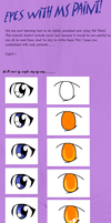MS Paint eye tutorial. by the-blue-fish