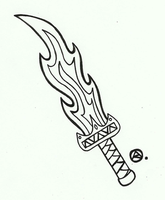 Flame Sword by roselovehunt