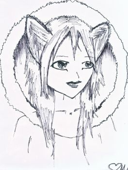 Wolf girl :D by candykrazi