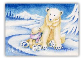 ACEO Polar Bears by Dusty-Feather
