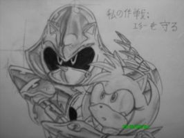 Metal Sonic and Amy by SMSSkullLeader