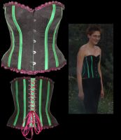 Patterned Overbust Corset by WaistedSpace