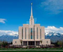 LDS Oquirrh Mountain Temple 2 by creativelycharged