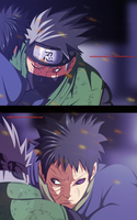 Kakashi and obito - naruto 636 coloring by Gray-Dous