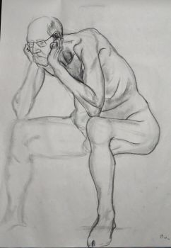 Life Drawing Sketch - 10 Min by LazerWhale