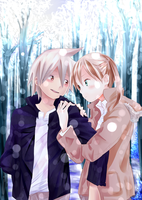 Soul x Maka - Snow by gone-phishing