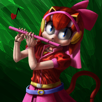 The Flute Playing Feline by xX-Mr-No-Name-Xx