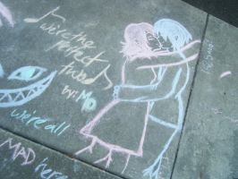 Chalk Drawings by Chibi-Kibo
