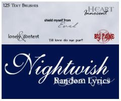 Nightwish -Random Text Brushes by NemesisDivina666