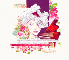 design pink flowers by b3rryfruit