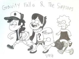 Pines and Simpsons by komi114
