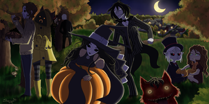 Pasta's Halloween (finished art) by Nyako-Shoyu