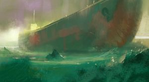 Daily Doodles 2013 10 18 GhostShip by M0nkeyBread