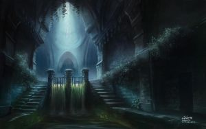 Flooded Catacombs by Celarx
