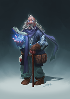 Old Wizard by erickenji