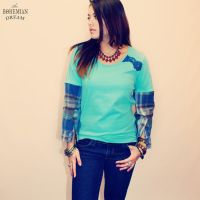 Upcycled Eco Friendly Bohemian Plaid Top by TheBohemianDream
