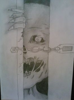Zombies at your door by asdabawee