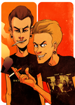 Beavis and Butthead by codexnoirmatic