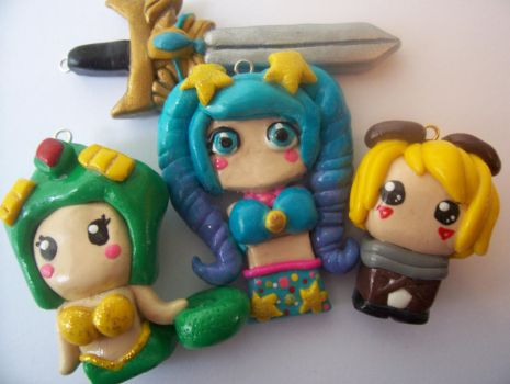 League of Legends Polymer Clay Charms by Stawry