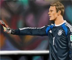 YOU SHALL NOT PASS! - Manuel Neuer by Akhorisha