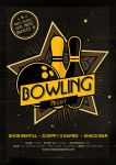 Bowling Magazine Ad Poster or Flyer Flat and 3D by AlexLasek