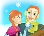 Anna and Hans - Frozen. by Kozekito