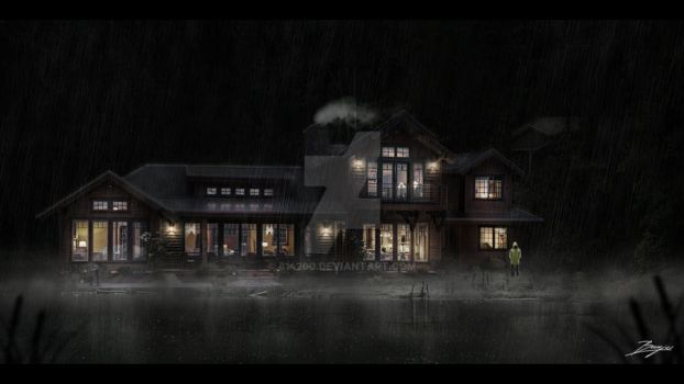 Lake House Night Concept by 814200