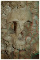 Skulls - Anaglyph by janey-in-a-bottle