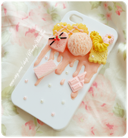 Sugar Pink iphone4/4s Decoden Case by PeachMilktea
