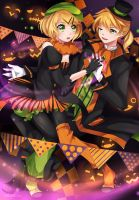Kagamine Rin and Len: Pumpkin Syndrome by Squ-chan