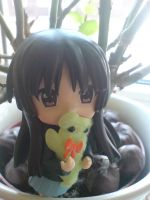 Mio with green Plush by Sunny-X-Ray