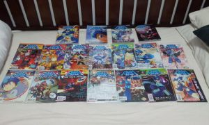 My Collection of Archie's Mega Man Comics by DestinyDecade