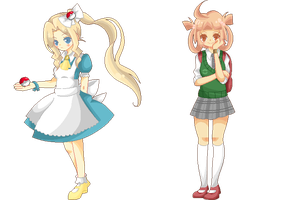 PokeBros: Fem!Rival Designs by Enacchi