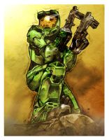 Master Chief by z0mbieparade