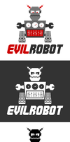 Robot Logo Template by xstortionist