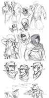 Sketch Dump 5 (OTHER PEEPS OC'S) by Contramonster