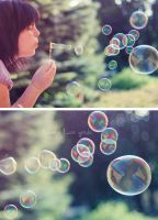 Blowing happiness by Bucikah