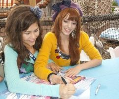 Signing Autographs by Bella--and--Zendaya