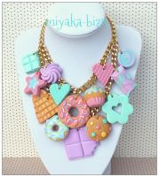 hugde pastel necklace by Miyaka89