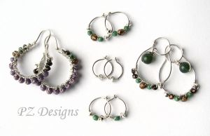 Matched Earring Set for Multiple Piercings by PurlyZig