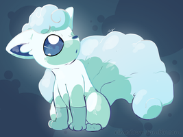 Alola Vulpix - Day 1391 by Seracfrost