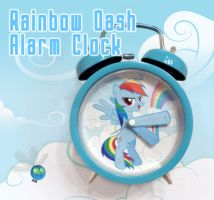 Rainbow Dash Alarm Clock by SN3AKYfox