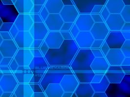 Blue Hexagons by k0ld