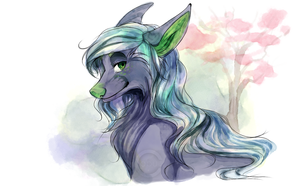 Digital Watercolor Bust Commission by Capukat