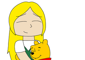Cubie hugging Winnie-the-Pooh by MarcosLucky96