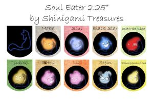 Soul Eater lg Buttons by shinigami-treasures
