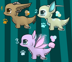 Chibi dragon adopts - CLOSED by Ivon-adopts