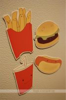 order up! fast food magnets by resubee